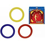 Juggling Rings Set of 3 Circus Skills Girls Boys Childrens Plastic Hoops