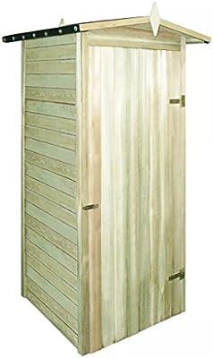 Vislone Caseta Jardín Caseta de Almacenaje Exterior de Madera de Pino Resistente Putrefacción 100x100x210cm