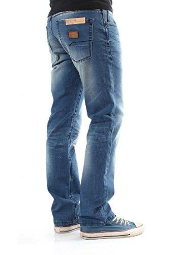 Shine wESTSIDE fondu bleu jean pour homme
