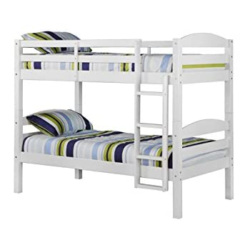 we furniture solid wood twin bunk bed white