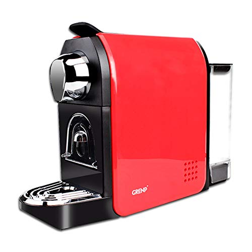 Espresso Machine for Coffee Capsules Compatible with Nespresso OriginalLine Machine, Espresso Maker for Nespresso OriginalLine, Bestpresso Coffee Capsules, Gourmesso Bundle, Jones Brothers Coffee, Battistino Coffee, Rosso Caffe, Peet's Espresso and lots more -By Grenp (Red)