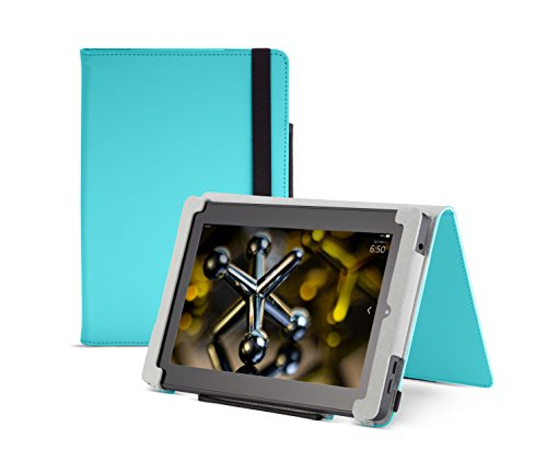 Fire HD 7 Case (2014 model), Turquoise,  Nupro, Standing Case, Protective Cover (4th Generation: ()