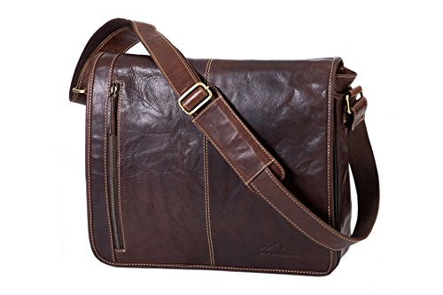 Alpenleder Messenger Bag ATLANTA Brandy - Designed in Germany - Pure Craftsmanship - by Alpenleder