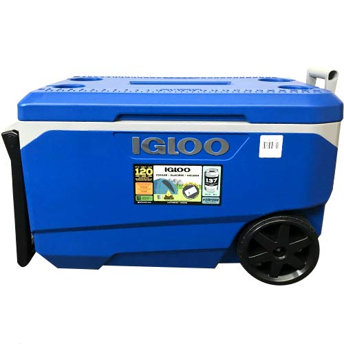 - Igloo Cooler with Wheels - Latitude 90 Quarts - Fits up to 137 Cans - Up to 5 Day Ice Retention