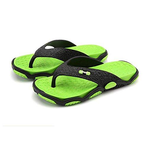 los del de de Libre Verano Deslizador al Chanclas Correa la Informal Hombres Plano Zapatos Chanclas Vacaciones la Hombres Deslizamiento de Playa de hibote Goma Verde Chanclas Aire en del los Sandalias fUFUP