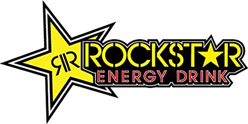 Rockstar Energy Drink Yellow Red Star Logo'd Full Color Window Decal Sticker