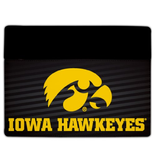 iPad 2 & 3 Iowa Hawkeyes Design #7 (Tiger Hawk Stripes) - Protective Leather and Suede Case