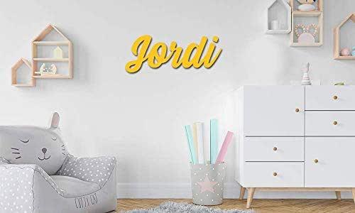 Nombres en madera • Nombres Personalizados para pared, Nombres para bebés, Regalo personalizado • 30 cm | 40 cm | 50 cm Nombres en madera natural y a color !!