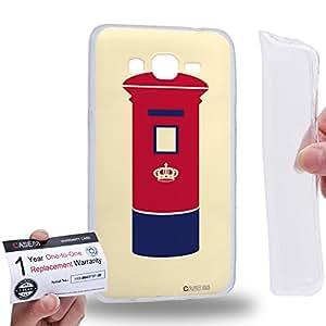 Case88 [Samsung Galaxy Grand Prime] Gel TPU Carcasa/Funda & Tarjeta de garantía - Art London Cityscape London LetterBox Art2060