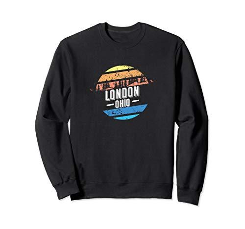 Vintage London, Ohio Sunset Souvenir Print Sweatshirt (Jumper London Day Christmas)