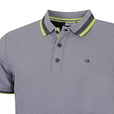 Calvin Klein Golf Men's Spark Polo, Grey Marl Large
