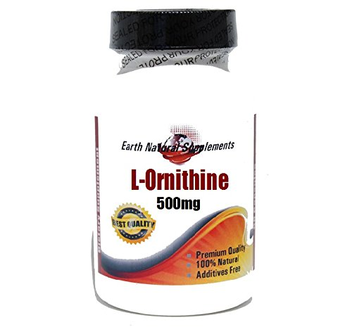 L-ornithine 500 Mg 100 Caps - L-Ornithine 500mg * 100 Caps 100 % Natural - by EarhNaturalSupplements