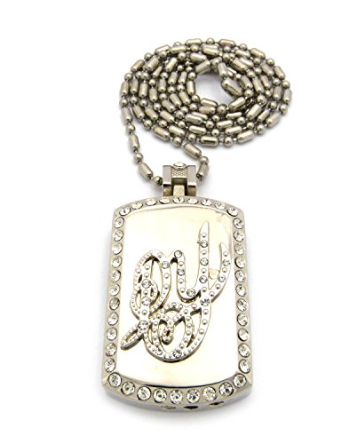 Daddy Yankee Dog Tag Cigarette Lighter Pendant 36 Sausage Chain
