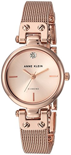 Anne Klein Women's Quartz Metal and Stainless Steel Dress Watch, Color:Rose Gold-Toned