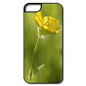 For HTC One M9 Case Cover Protector, Small Yellow Flower White/black For HTC One M9 Case Cover
