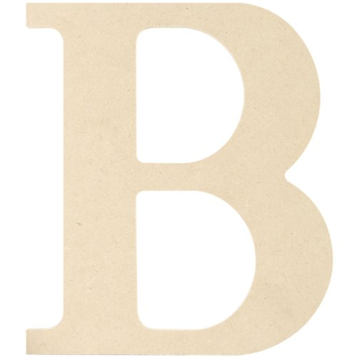 (MPI MDF Classic Font Wood Letters and Numbers, 9.5-Inch, Letter B)