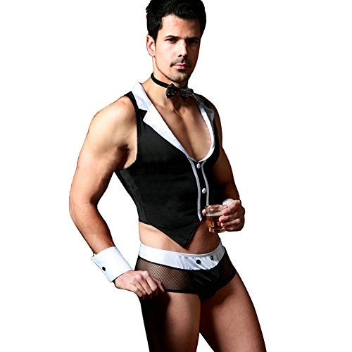 Amour Eden Mens Sexy Coustume Outfit Lingerie Underwear Set (Sexy Men Outfits)