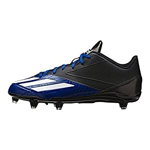 adidas Performance Men's 5-Star Low d Football Shoe, Black/Platinum/Collegiate Royal, 10 M US