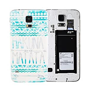 Hakuna Matata PC Bendable Battery Back Cover Housing Case for Galaxy S5 I9600