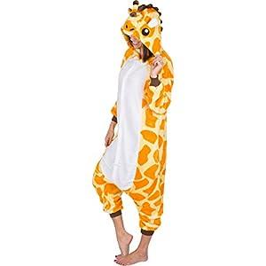 Emolly Adult Animal Giraffe Onesie Pajamas Costume