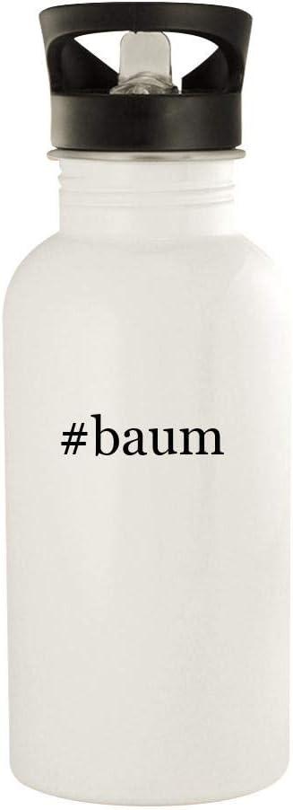 #Baum - 20Oz Hashtag Stainless Steel Wasser Bottle, White