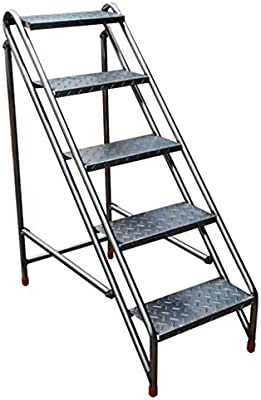 Escalera Plegable de Acero Inoxidable Taburete Escaleras, Taburete de Escalera de múltiples Capas Silla de Escalera Escalera multifunción Racks Estante - Carga máxima 200 kg: Amazon.es: Hogar