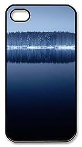 iPhone 4S CaseDeep Blue Lake PC Custom iPhone 4/4S Case Cover Black