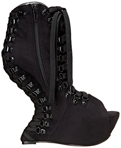 Bettie Page Womens BP646 Trina Boot Velvet/Black zLP5iS