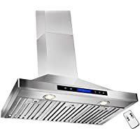 GOLDEN VANTAGE 36 Wall Mount Stainless Steel Range Hood With Remote GVW36-B02