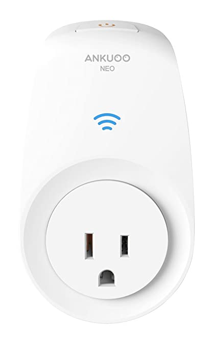 Ankuoo Smart Plug , WiFi Outlet Socket, Wireless Remote Control and Timer  Via NEO APP