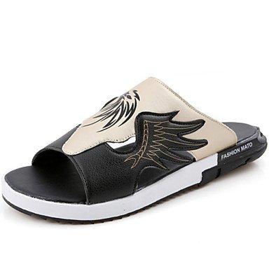 Sandalias de verano zapatos de hombre exterior / oficina / Carrera / Fiesta & Noche / Athletic / vestimenta casual zapatillas Negro / sintético Negro