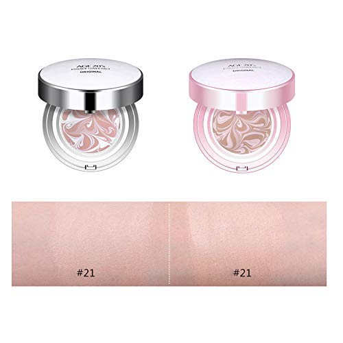 (Korean AGE 20's Essence Cover Pact Original SPF 50+ / PA +++, White/Pink Latte BB Foundation Cream Pack. (Pink-#21 Ivory))