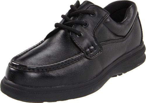 Hush Puppies Men's Gus Oxford,Black Leather,12 W US