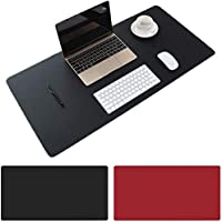 AngKng Large Desk Pad, Non-Slip PU Leather Desk Mouse Pad Waterproof Desk Pad Protector, Dual-Side Use Desk Writing Mat…
