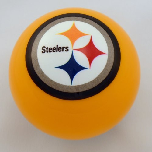(Officially Licensed NFL Pittsburgh Steelers Yellow Billiard Pool Cue Ball)