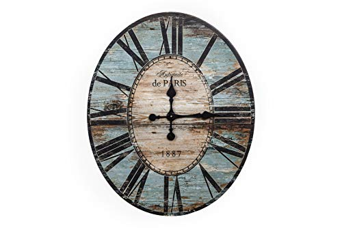 Amazon Com Creative Co Op Distressed Wood Wall Clock 29
