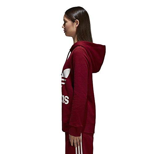 adidas Originals Women's Trefoil Hoodie, Collegiate Burgundy