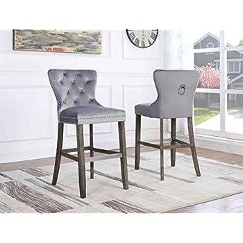 Amazon Com Best Quality Furniture Bs160 Velvet Barstool