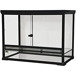 "Reptile Treasures 877012 32"" x 18"" x 24"" Glass Terrarium (Knock-Down)"