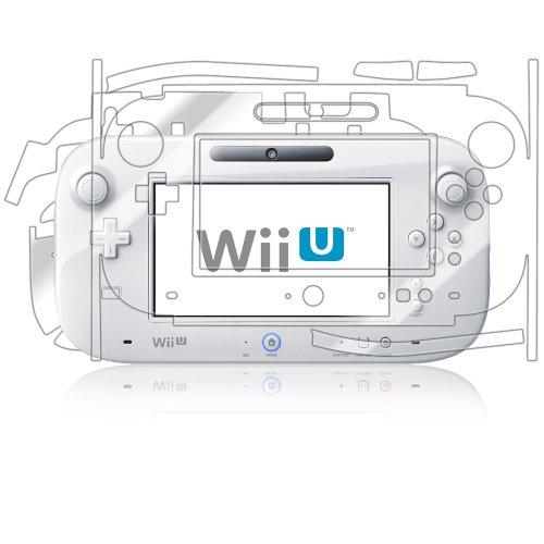 Nintendo Wii-U GamePad Screen Protector + Full Body, Skinomi® TechSkin Full Coverage Skin + Screen Protector for Nintendo Wii-U GamePad Front & Back Clear HD Film