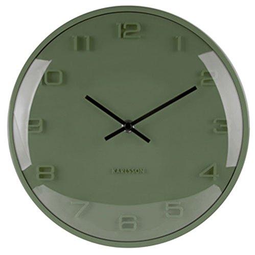 Karlsson Wall Clock, Aluminium, Green, One Size