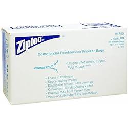 Diversey 94605 Ziploc 2 gallon Commercial Freezer Bag, 100 Carton
