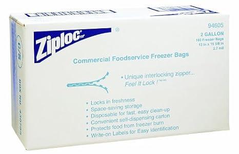 Diversey 94605 bolsa de Ziploc congelador comercial 2 Gallon, 100 ...