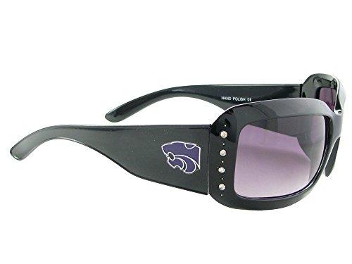Kansas State Wildcats Womens Black Fashion Sunglasses KSU K-State S4JT (Wildcats Glass)