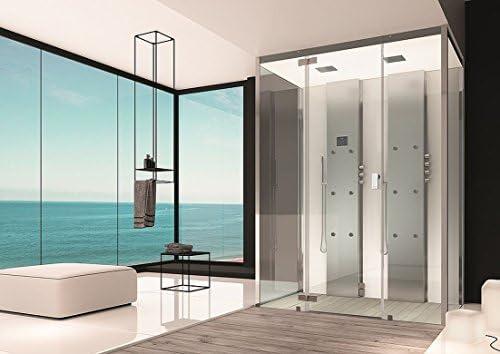 Baño Hoesch Vapor senseperience 180 x 100 cm ducha de vapor con ducha bañera pared Versión: Amazon.es: Bricolaje y herramientas