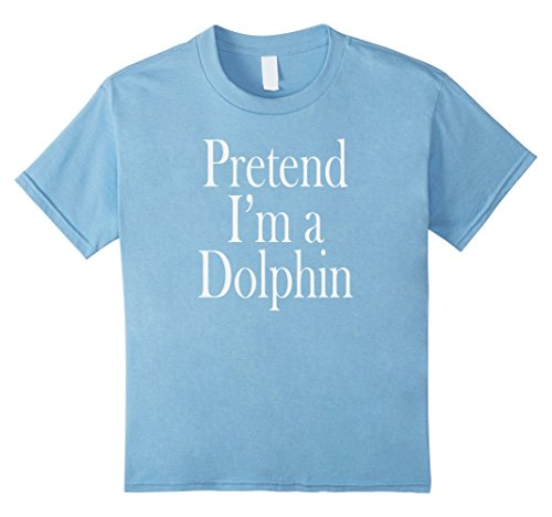 Dolphin Costumes For Kids (Kids Dolphin Costume T-Shirt for the Last Minute Party 8 Baby Blue)
