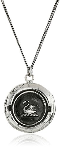 ling Silver Swan Pendant Necklace, 18