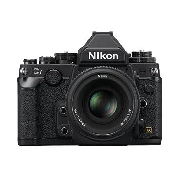 Nikon Black Df Digital SLR Camera with 16.2 Megapixels and 50mm Lens Included