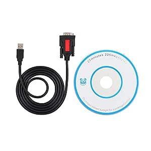ASHATA USB a RS232 Puerto Serie Conexión de Impresora USB a 232 ...