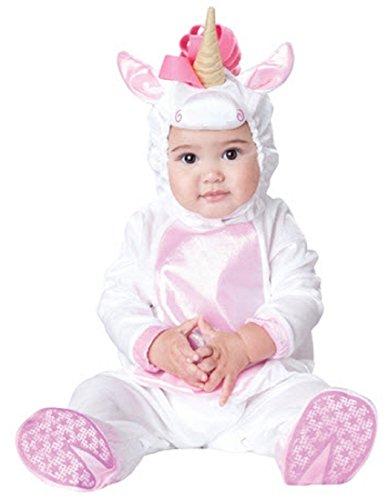 InCharacter Costumes Baby Girls' Magical Unicorn Costume, White/Pink, Small